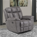 Goliath Manual Glider Recliner in Arizona Grey Fabric by Parker House - MGOL#812G-AGR