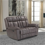 Goliath Manual Reclining Loveseat in Arizona Brown Fabric by Parker House - MGOL#822-ABR