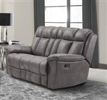 Goliath Manual Reclining Loveseat in Arizona Grey Fabric by Parker House - MGOL#822-AGR