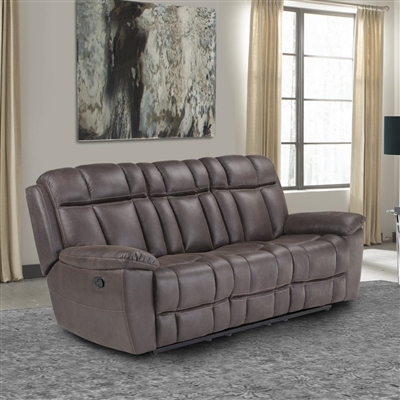 Goliath Manual Reclining Sofa in Arizona Brown Fabric by Parker House - MGOL#832-ABR
