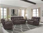 Goliath 2 Piece Manual Reclining Set in Arizona Brown Fabric by Parker House - MGOL-832-ABR-SET