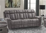 Goliath Manual Reclining Sofa in Arizona Grey Fabric by Parker House - MGOL#832-AGR