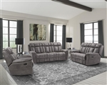 Goliath 2 Piece Manual Reclining Set in Arizona Grey Fabric by Parker House - MGOL-832-AGR-SET