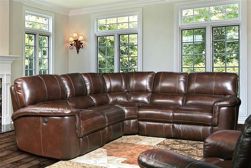 Hitchcock 5 Piece Power Reclining Sectional in Cigar Leather by Parker House - MHIT-PACKB-CI & Hitchcock 5 Piece Power Reclining Sectional in Cigar Leather by ... islam-shia.org