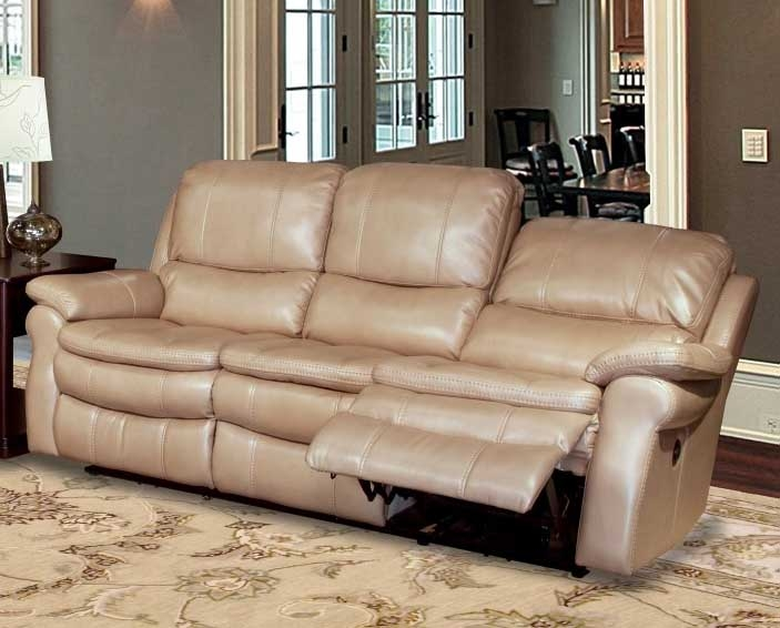 Charmant Juno Power Reclining Sofa In Sand Synthetic Leather By Parker House    MJUN 832P SA