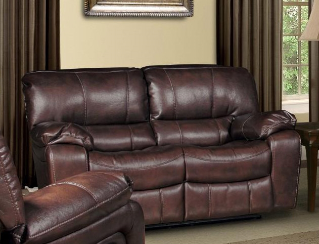 jupiter dual reclining loveseat in russet synthetic leather by parker house mjup822rus
