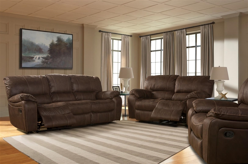 Jupiter Dual Reclining Sofa In Dark Kahlua Synthetic Leather By Parker House    MJUP 832 DK