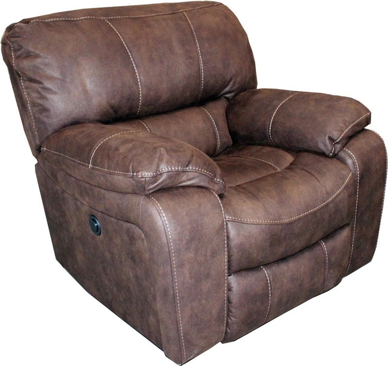 Jupiter Dual Reclining Sofa in Dark Kahlua Synthetic Leather by