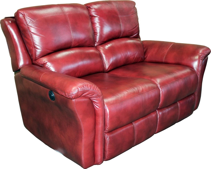 Lewis 2 Piece Power Reclining Set in Lipstick Leather by Parker ...