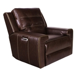 Patterson Power Recliner with Power Headrest and USB Port in Clydesdale Leather by Parker House - MPAT-812PH-CLY