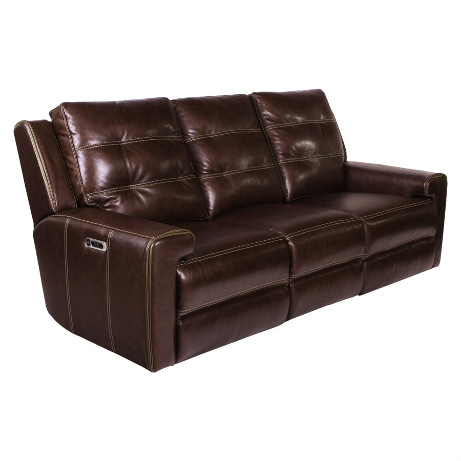 Patterson Reclining Sofa With Headrests And Usb Port In Clydesdale Leather By Parker House Mpat 832ph Cly