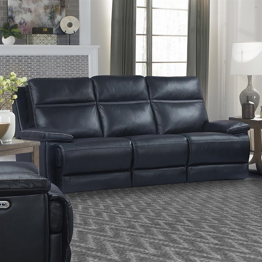 Incredible Paxton Power Reclining Sofa With Power Headrests In Navy Leather By Parker House Mpax832Phl Nav Ibusinesslaw Wood Chair Design Ideas Ibusinesslaworg