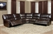 Pegasus 5 Piece Power Reclining Sectional in Nutmeg Synthetic Leather by Parker House - MPEG-811LP-NU-5