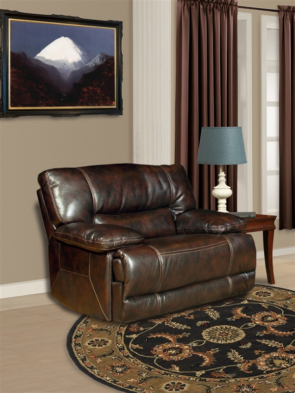 Pegasus 6 Piece Reclining Sectional In Nutmeg Synthetic Leather By Parker House Mpeg 811lp Nu