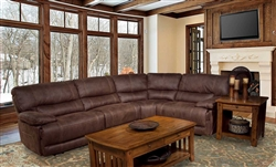 Pegasus 4 Piece Power Reclining Sectional in Dark Kahlua Fabric by Parker House - MPEG-811RP-DK-4