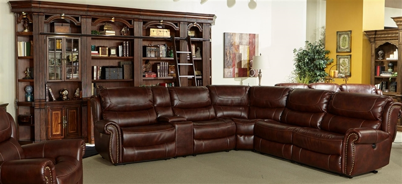 Pompeii 6 Piece Power Reclining Sectional With Power Headrest And