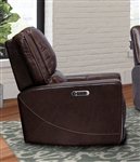 Roth Power Recliner with Power Headrests and USB Ports in Walnut Leather by Parker House - MROT-812PH-WAL