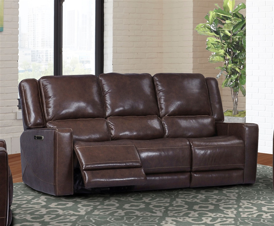Enjoyable Roth Power Reclining Sofa With Power Headrests And Usb Ports In Walnut Leather By Parker House Mrot 832Ph Wal Dailytribune Chair Design For Home Dailytribuneorg