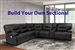 Spartacus BUILD YOUR OWN Sectional with Power Headrests and USB Ports in Black Fabric by Parker House - MSPA-BYO-BLC