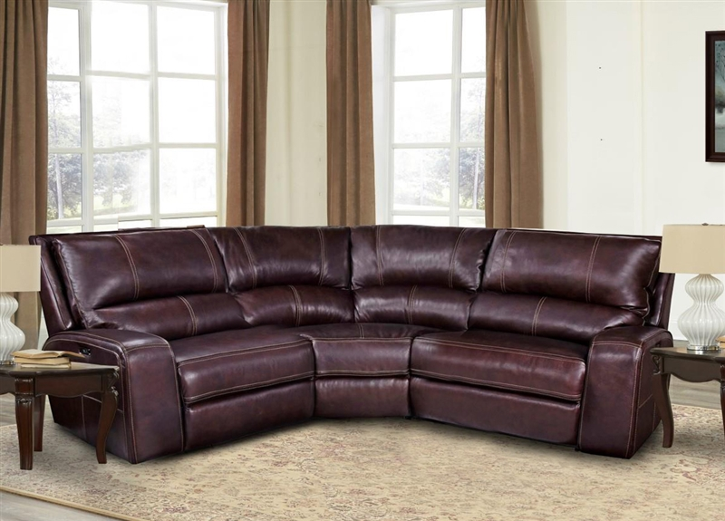 Swift 3 Piece Power Reclining Sectional With Power Headrest And