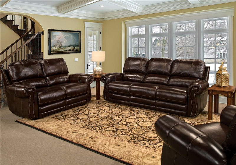 Thurston Power Dual Reclining Loveseat in Havana Leather by Parker House - MTHU-822P-HA & Thurston Power Dual Reclining Loveseat in Havana Leather by Parker ... islam-shia.org