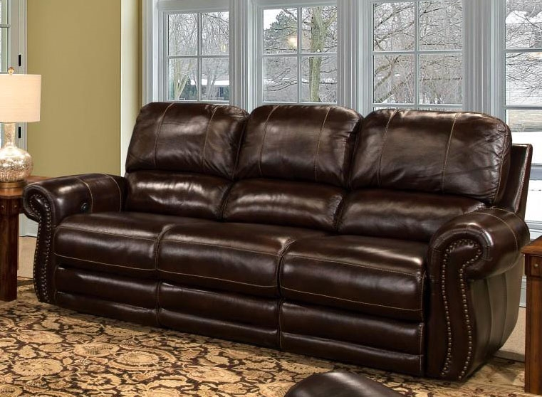 Thurston Power Dual Reclining Sofa In Havana Leather By Parker House    MTHU 832P HA