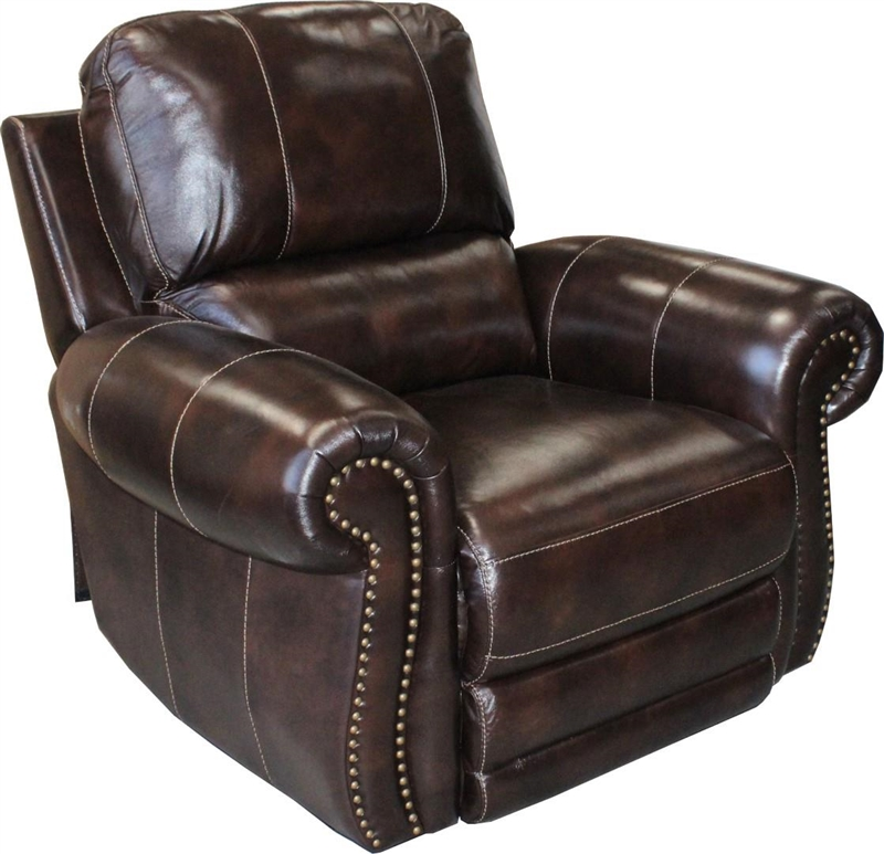Thurston Power Dual Reclining Sofa in Havana Leather by Parker