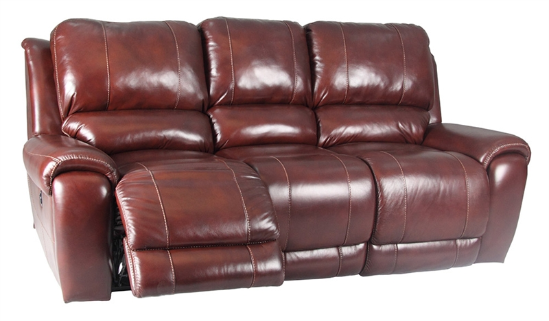 Titan Dark Burgundy Leather Dual Reclining Sofa by Parker House ...