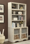 Nantucket 3 Piece Modular Bookcase in Vintage Burnished Artisan White Finish by Parker House - NAN-960-3