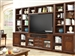 Napa 10 Piece 63-Inch TV Console Modular Bookcase Home Entertainment Library Wall in Bourbon Finish by Parker House - NAP-912-10