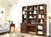 Napa 6 Piece Modular Library Wall Home Office Set in Bourbon Finish by Parker House - NAP-970-6