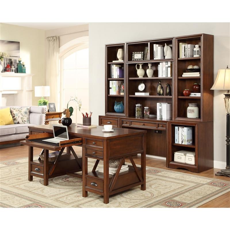 Etonnant Napa 7 Piece Modular Home Office Set In Bourbon Finish By Parker House    NAP 970 SET