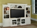 Alpine 43-60-Inch TV 4 Piece Expendable Premier Wall Unit in Cottage White Finish by Parker House - PAL-100-4X