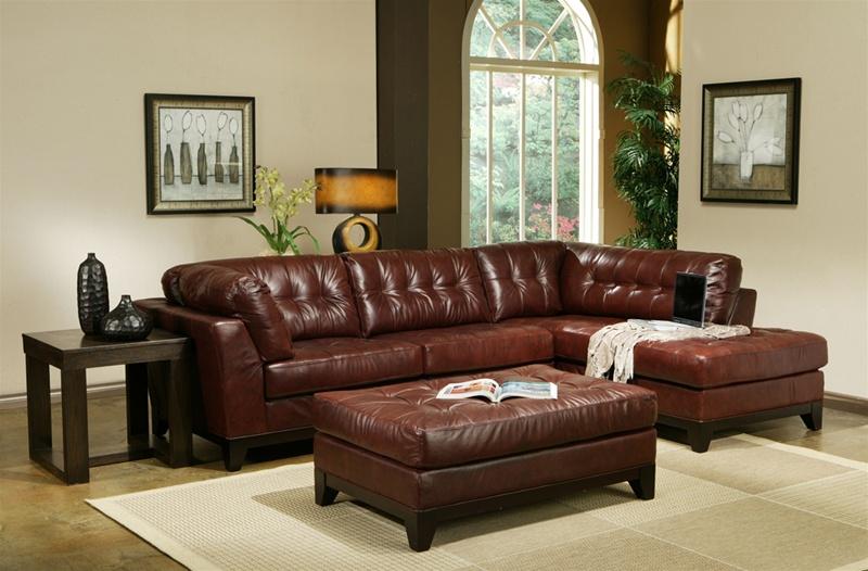 Cognac Sofa Colour Baci Living Room