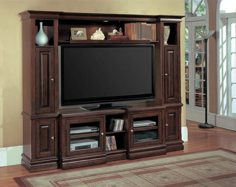 Premier Sterling 48 65 Inch Tv 4 Piece Wall Unit In Espresso Finish By Parker House