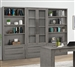 Pure Modern 3 Piece Bookcase Wall in Moonstone Finish by Parker House - PUR#430-03