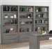 Pure Modern 3 Piece Bookcase Wall in Moonstone Finish by Parker House - PUR#430-3