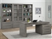Pure Modern 4 Piece Home Office Set in Moonstone Finish by Parker House - PUR#440-4