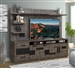 River Rock 92 Inch TV Console with Hutch in Siltstone Finish by Parker House - RR#92-2