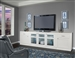 Skyline 3 Piece TV Console with LED Light in Cottage White Finish by Parker House - SKY-3