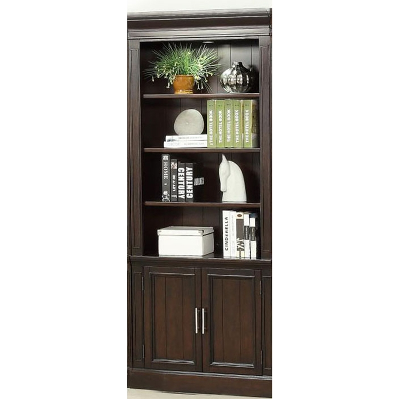 Stanford 32 Inch Open Top Bookcase In Light Vintage Sherry Finish By Parker  House   STA 430