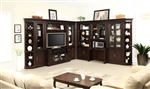 Stanford 11 Piece Entertainment Bookcase Library Desk Wall in Light Vintage Sherry Finish by Parker House - STA-463-11