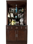Stanford 2 Piece Bar Base & Hutch in Light Vintage Sherry Finish by Parker House - STA-465-2