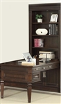 Stanford 2 Piece Peninsula Desk Bookcase in Light Vintage Sherry Finish by Parker House - STA-490-2