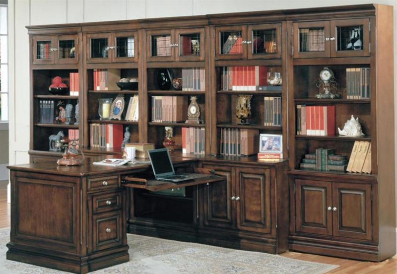 home office library furniture. Brilliant Home Sterling 10 Piece Peninsula Desk Home Office Set In Espresso Finish By  Parker House  STE50010 To Library Furniture E