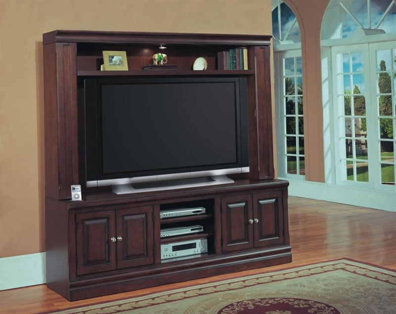 Sterling Vista 65 Inch Entertainment Center In Espresso Finish By