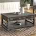 Sundance Cocktail Table in Smokey Grey Finish by Parker House - SUN#01-SGR