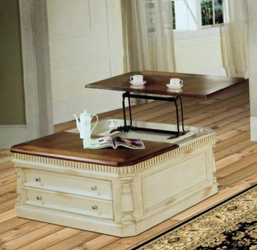 Awesome Westminister Occasional Tables In Antique Vintage Cream Crackle Finish With  Walnut Top By Parker House   TAB 24 04
