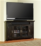 Tahoe 62-Inch Corner TV Console in Vintage Black Burnished Finish by Parker House - TAH-62CR
