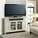 Tidewater 62-Inch Corner TV Console in Vintage White Finish by Parker House - TID-62CR